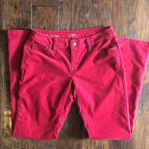 Loft red corduroy pants